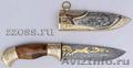 Охотничьи и туристические ножи из дамаска